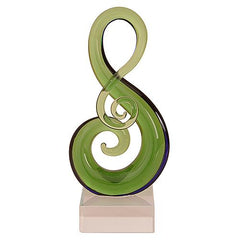 Glass Koru Music Note