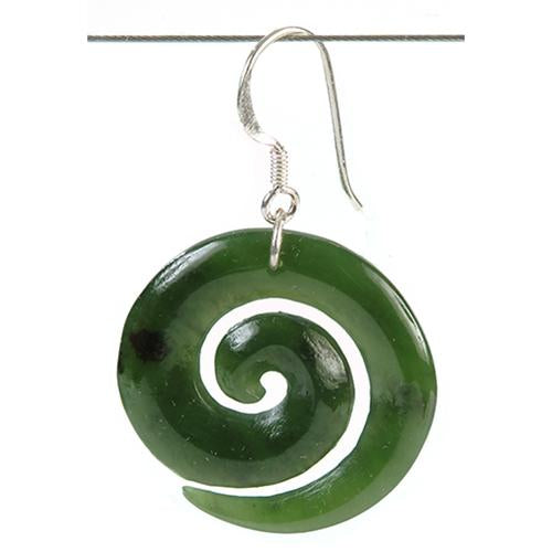 Jade Open Koru Earrings