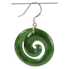 Jade Closed Koru Earrings