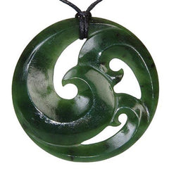 Jade Closed Koru Pendant