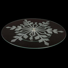 Glass Snowflake Lazy Susan