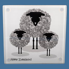 Glass Sheep Coasters