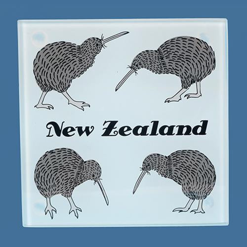 Glass Kiwi Coaster Set