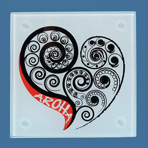 Glass Aroha Coaster Set