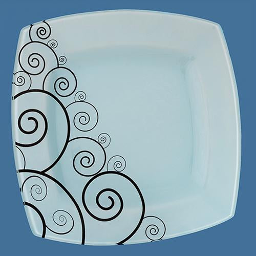 White Plate with Black Koru