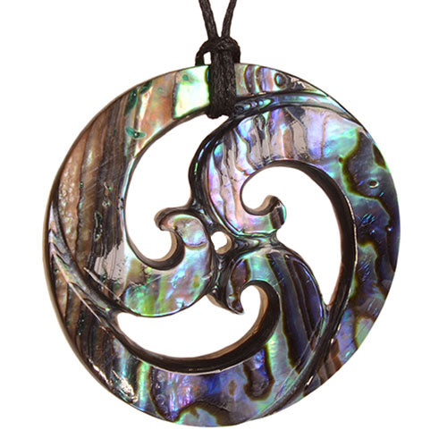 Paua Closed Koru Pendant. PSC001