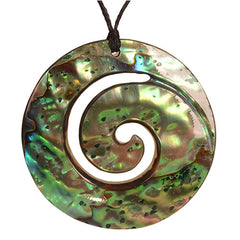 Paua closed Koru pendant. PSC003