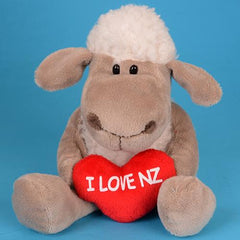 Sitting Sheep With Heart