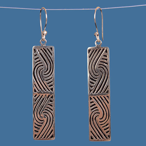 Maori design earrings. SBE001