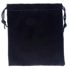 Black Velvet Drawstring Bag