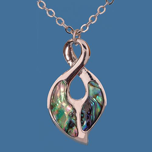 Paua Single Twist Pendant