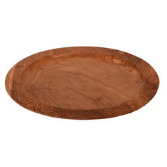 Lg wooden decor plate