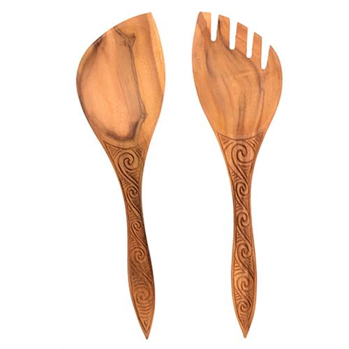 Wooden Salad Servers Set