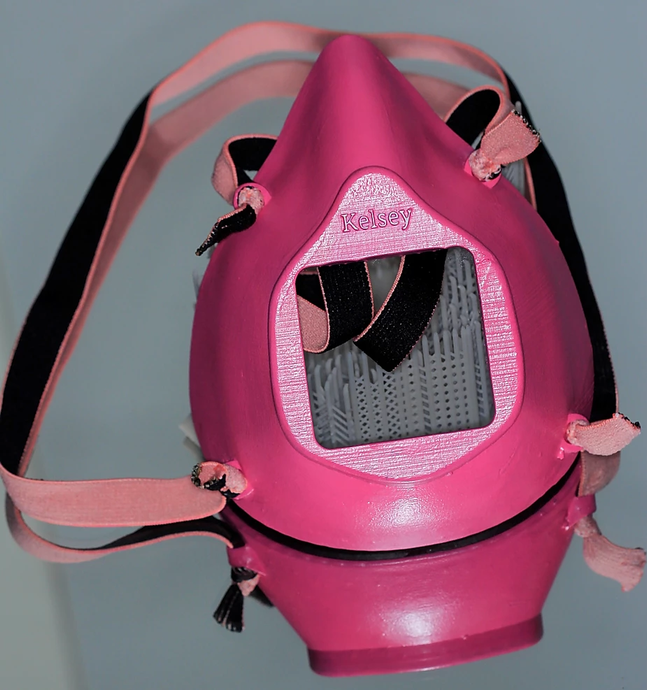 Helcasio Reusable 3-D printed mask