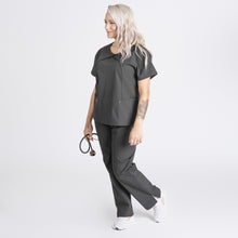 Load image into Gallery viewer, Sophia Pleated Wrap - Helcasio Sophia Pleated Wrap Women's Medical Scrub Top