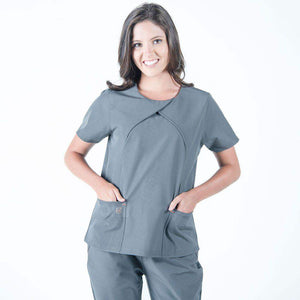 Sophia Pleated Wrap Women's Medical Scrub Top