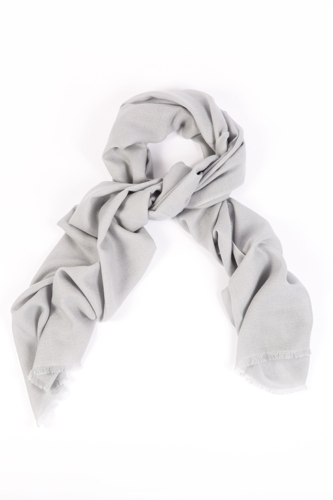 7817fb46a Light Grey 70% Cashmere 30% Silk Shawl for Women - David Venn