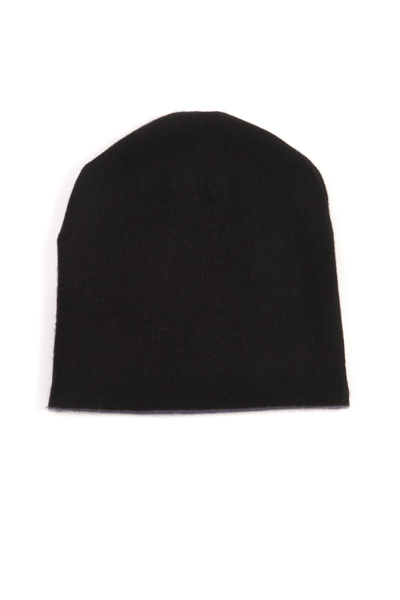 298ac954fd880 Black and Charcoal Grey 100% Cashmere Reversible Hat - Corala Cashmere ...