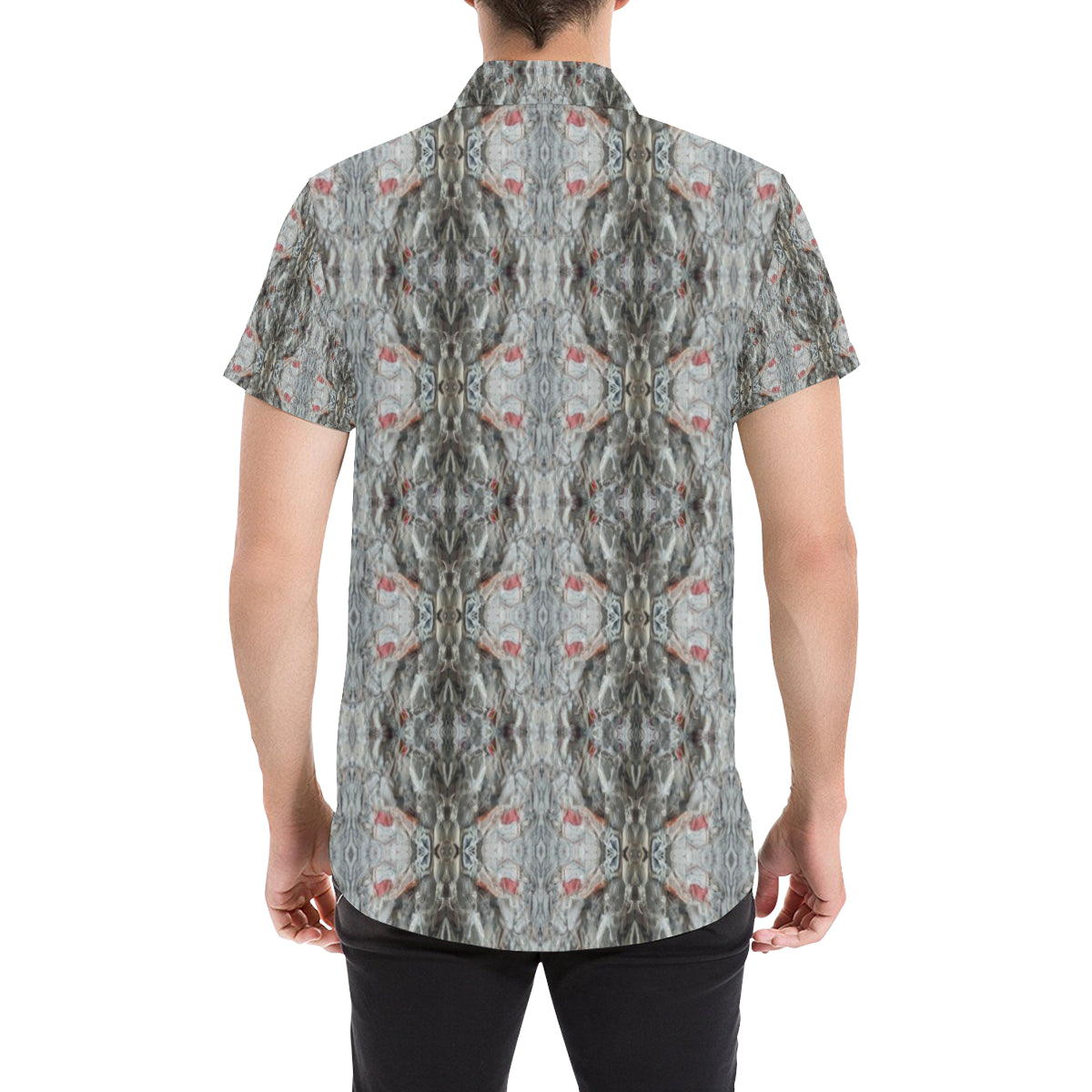ChuArts Men's All Over Print Short Sleeve Shirt