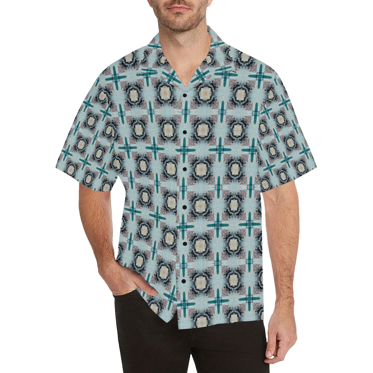 ChuArts Men's All Over Print Hawaiian Shirt