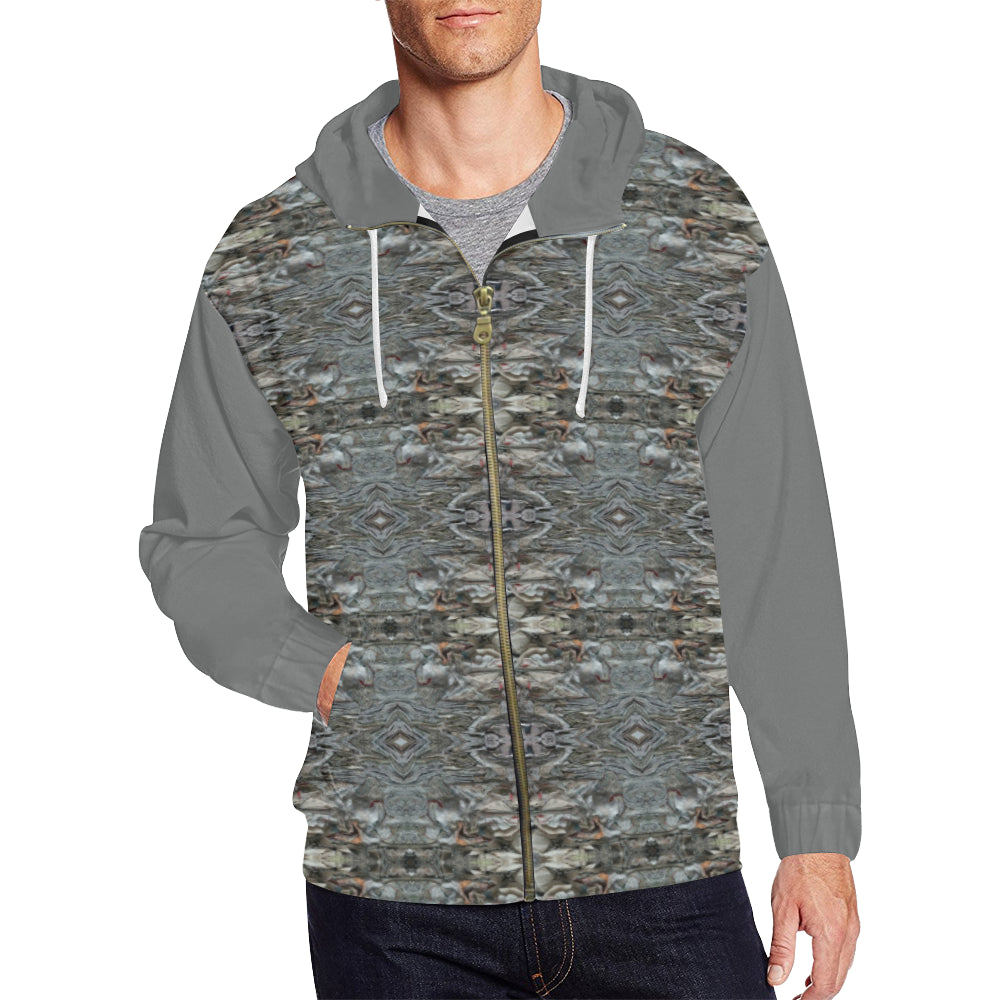 Men's Full Zip Hoodie by ChuArts Epic-125B2 (Model H14)