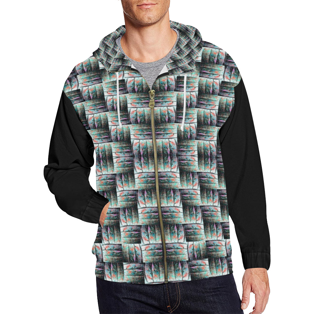Men's All Over Print Full Zip Hoodie By ChuArts