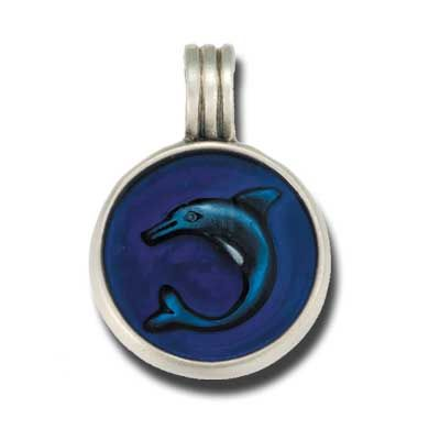 Bico Australia Jewelry - (B20) Dolphin Pendant - Salvation And Freedom - Comes With A Generic Black Rubber Necklace