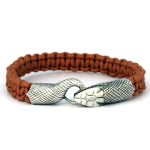 Bico Australia Jewelry -  (CA26BR) - Urobos - The More Things Change, The More They Stay The Same - Brown Cord