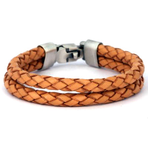 Bico Australia Jewelry -  (CA27BR) - Wrangler - Wrangle Life - Brown Leather
