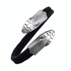 Bico Australia Jewelry -  (CA28BLK) - Dueling Serpent - Soul Protector