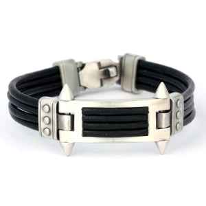 Bico Australia Jewelry -  (CA29BLK) - Phalanx - United We Stand - Black Leather