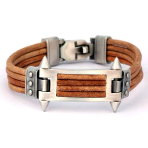 Bico Australia Jewelry -  (CA29BR) - Phalanx - United We Stand - Brown Leather