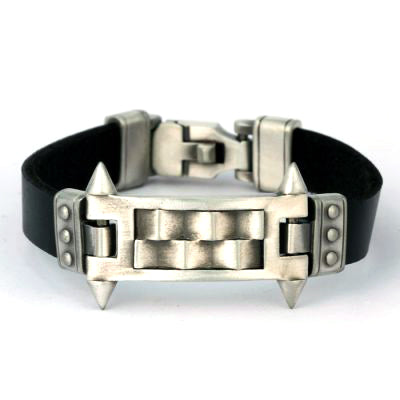 Bico Australia Jewelry -  (CA30BLK) - Mechanika - Triumph Over Impossibility - Black Leather - More Sizes Available