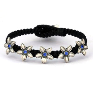 Bico Australia Jewelry -  (CA38BLKBLU) - Flower Garland - Innocence And Freedom