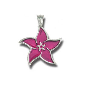 Bico Australia Jewelry - (CR54) Hibiscus Pendant - Youthful And Carefree