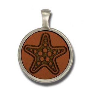 Bico Australia Jewelry - (EL11) - Starfire, Leather Insert - Reveal The Inner Wonders Of Ocean World