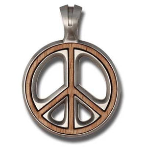 Bico Australia Jewelry - (EW55) - Peace Preacher, Wood Insert - War Is Not In My Nature