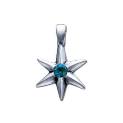 Bico Australia Jewelry - (MV4) Crystal Mini Pendant Charm - Available Crystal Colors: Blue, Pink, Clear, Light Blue, And Red