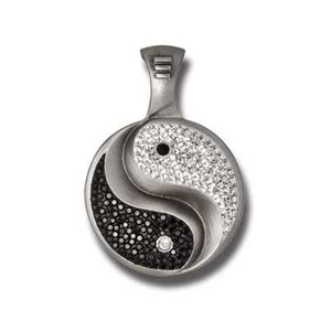 Bico Australia Jewelry - (PV10) -Yin & Yan Pendant, Black And Clear