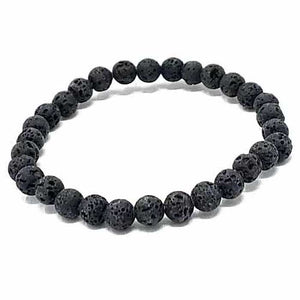 Essential Oil Lava Stone Bracelet 6mm
