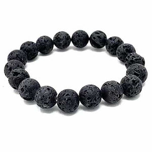 Essential Oil Lava Stone Bracelet 10mm