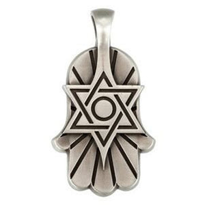 Bico Australia Jewelry - (E292) Star Of David Hamsa - The Giving Hand