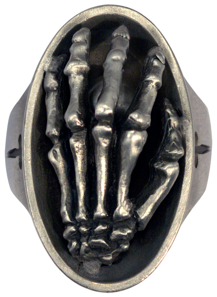 Bico Raw Pewter REACHING HAND Spirit Ring (ARR3)