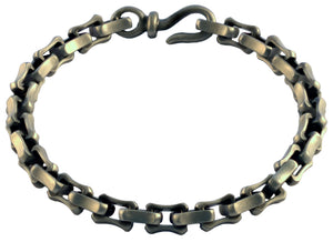 Bico Raw LI Pewter Square Link Bracelet (FB308)