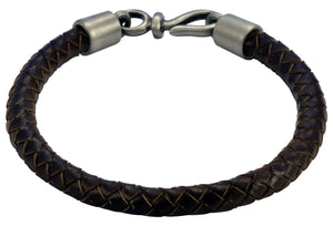 Bico Raw BOLO Brown Leather Bracelet (FB402BR)