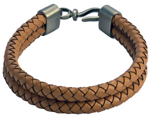 Bico Raw DOUBLE BOLO Natural Leather Bracelet (FB403NA)