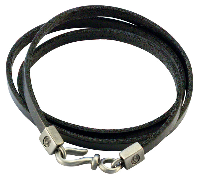 Bico Raw WRAP Black Leather Wrap Bracelet (FB420BLK)