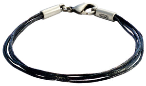 Bico Raw Strands Multi-Strand Black Cotton Bracelet (FB430BLK)