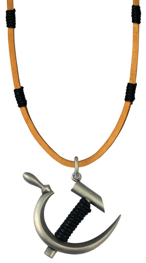 Bico Raw Revolution Pendant & Brown Leather Necklace (RA2P6B)