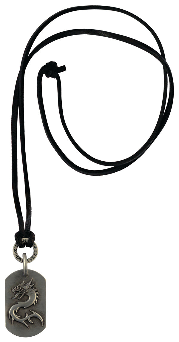 Bico Raw THE ORDER OF LAN Pendant & Black Leather Necklace (RC1P9A)